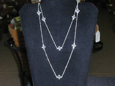 """Park Lane """"EVERYDAY DIVA"""" Necklace, clear gems, silvertone,  NEW!!!"""