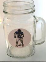 New York Giants Lawrence Taylor Mason Jar Mug-16oz-Free team lapel pin 4 caps
