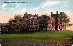 Vtg 1910s Marshall College Huntington West Virginia WV Postcard