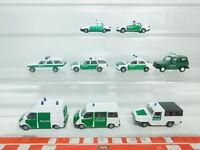 BN161-0,5# 9x Rietze H0/1:87 PKW Polizei: Ford+Audi+Mitsubishi+Amphi-Ranger, TOP