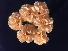 "Vintage Millinery Flower Soft Pink 1"" Mini Carnation 6pc Bunch Japan Made Y310"