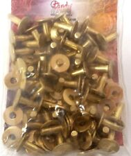 "#9 Large 1/2"" 50 Pack of BRASS RIVETS & BURRS 11280-20 Tandy Leather Rivet Burr"