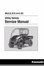 Kawasaki Mule 610 4x4 XC 2010 2011 2012 2013 2014 2015 2016 service manual bindr