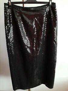Marina Rinaldi Womens Skirt Size-23 Black Color Maxi 100% Polyester