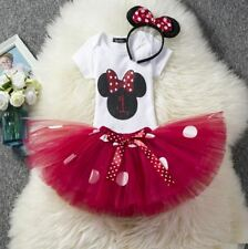 Minnie Mouse 1st Birthday Dress Cake Smash Dress Set Outfit Set Tutu Romper Set