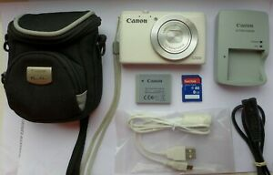 Canon PowerShot S200 10.1MP Digital Camera - White + 8GB Memory Card