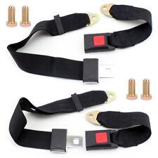 2pc 2 Point Single Double Seat Safety Belt Harness Kit Car Go Kart Buggie UTV