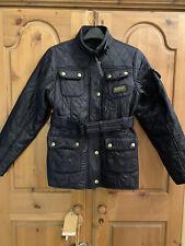 Barbour International Black Quilted Jacket Girls Age 12-13 (XL) - Preloved