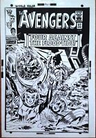 AVENGERS SCARLET WITCH CAPTAIN AMERICA  JACK KIRBY 1960s COVER ART TRANSPARENCY
