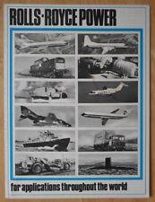 ROLLS ROYCE POWER 1968 UK Mkt Publicity Brochure - car aircraft rocket engines