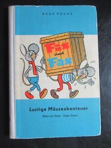 FIX & FAX Lustige Mäuseabenteuer-BLAU-Jürgen Kieser-DDR Comic