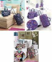 3 PC Trendy Luggage Set Rolling Duffel Tote Bag Cosmetic Bag Travel Carry On