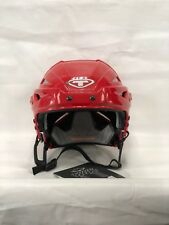 Tour Spartan Zx Hockey Helmet No Cage Red Large *New*