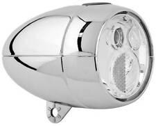 NEW Axa Vintage / Retro LED Front Bike Head light CHROME batterylight + bracket
