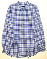 Polo Ralph Lauren Big and Tall Mens 2XLT Blue Plaid Button-Front Shirt NWT 2XLT