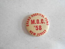 Vintage 1958 MOC Military Order of the Cootie New Jersey Hospital Fund Pinback