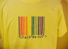 "AMERICAN APPAREL Men's Women's T-Shirt ""CHECK ME OUT"" Large New"