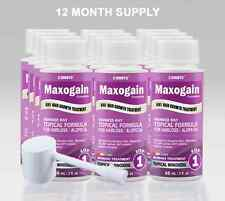 Womans 12Month Maxogain Hair Regrowth Topical 4in1 Active Minoxidil DHT Nutrient
