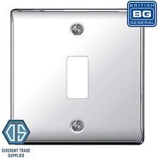 BG Nexus Metal Polished Chrome 1 Gang Metal Front Cover Plate GNPC1