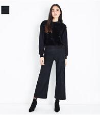 191 Korean Women's Fashion Tweed Wool Blend Straight Pants Light Gray
