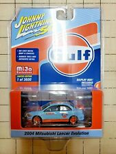 Johnny Lightning 50 Year 2004 Mitsubishi Lancer Evolution Gulf Mijo Exclusive