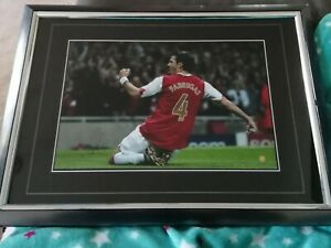 CESC FABREGAS Limited Edition Signed Autograph Framed ARSENAL BARCELONA 18x14 in