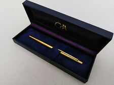 CARAN DACHE MADISON CLOU DE PARIS GOLD PLATED BALLPOINT PEN VINTAGE EXCELLENT