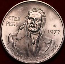 Uncirculated 1977 Mexico 100 Pesos Silver Foreign Coin