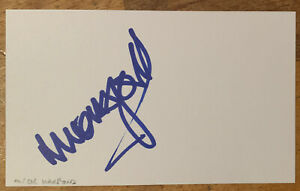Signed Mick Harford Luton Town FC England White Card Football Autograph