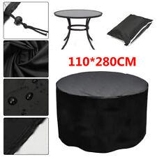 110x280cm Waterproof Outdoor Patio Garden Furniture Rain Snow Round Table Cover
