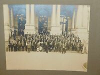 "VINTAGE 12 1/2"" X 10"" GARTLAND""S REGIMENT ALBANY CYPRUS HATS OLD GROUP PHOTO"
