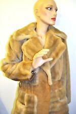 Vintage LILLI ANN London Leather + Faux Fur COAT England Add Your Belt M/L