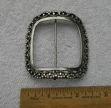 Early 18th C COIN SILVER SHOE BUCKLE-Cast-Partial Mark-Origin?