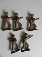 Nice Lot of Vintage WWII Painted Toy Lead Soldiers w/Machine Guns, GIFT
