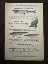 Antique Hardy Brothers Anglers Cuddy Fly Baits Hooks Fishing 1930s Advert Print