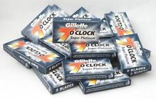 100 X Gillette 7 O' Clock Super Platinum Double Edge Razor Blades|FSWW