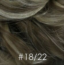 Honeycomb Base Short Wavy/Curly Pull-through Wiglet Hair Enhancer Salt & Pepper