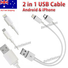 2 in 1 Universal USB Multi Charger Cable Adapter for Mobile Phone iPhone Android