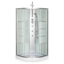 DUSCHTEMPEL FERTIGDUSCHE DUSCHKABINE ECHT GLAS KOMPLETT DUSCHE Wanne 90x90cm !!