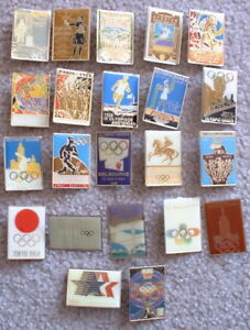 vintage Summer Olympics pins 1896 to 1988