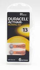 60 x Duracell Hörgerätebatterie easytab Typ 13 - PR48 - 10x6er Blister