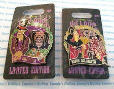 VILLAINs LAIRs HALLOWEEN - JAFAR Dr. FACILIER NEW on CARD Disney 2 Pin LE 3D Set