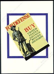 1941 classic minuteman art United States Defense Bonds war bond vintage print ad