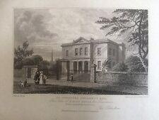 1826 Print; Albion House, North St Cheltenham,  Gloucestershire