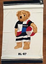 "NWT-POLO RALPH LAUREN Beach Towel LIMITED EDITION ""BEACH POLO BEAR RL-67"" 35x66"
