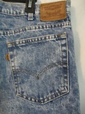 Vtg Levis 42 x 32 Two Horse Brand Made In USA Acid Washed Orange Tab Leather tag