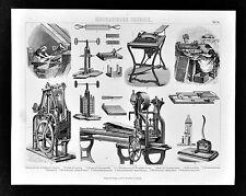 1874 Bilder Technology Print - Tobacco Industry Cigar Making Machines Cigarette
