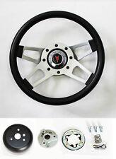 "1969-1993 Pontiac GTO Firebird LeMans Grant Black 4 Spoke Steering Wheel 13 1/2"""