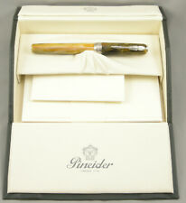 Pineider Gemstones Tiger Eye Fountain Pen - 14K Stub Flex Nib - New - 55% OFF