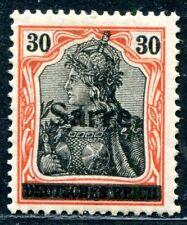 SAAR 1920 10y ungestempelt signiert (A9643